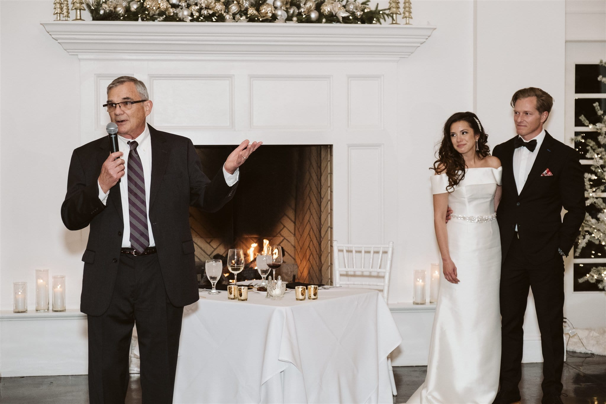 Father of the bride gives a toast