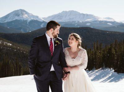 Kaitlin + Michael's Keystone Ski Resort Elopement