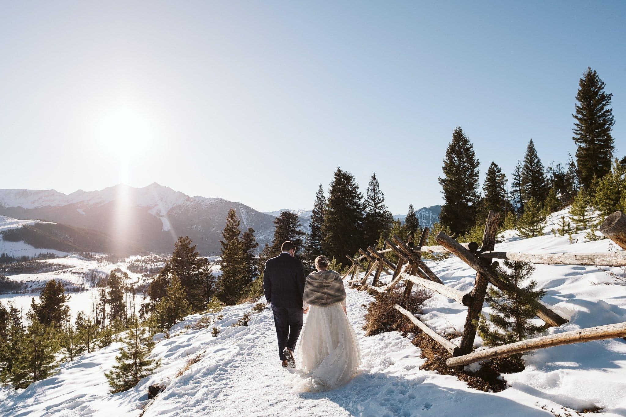Sapphire Point winter elopement photos.
