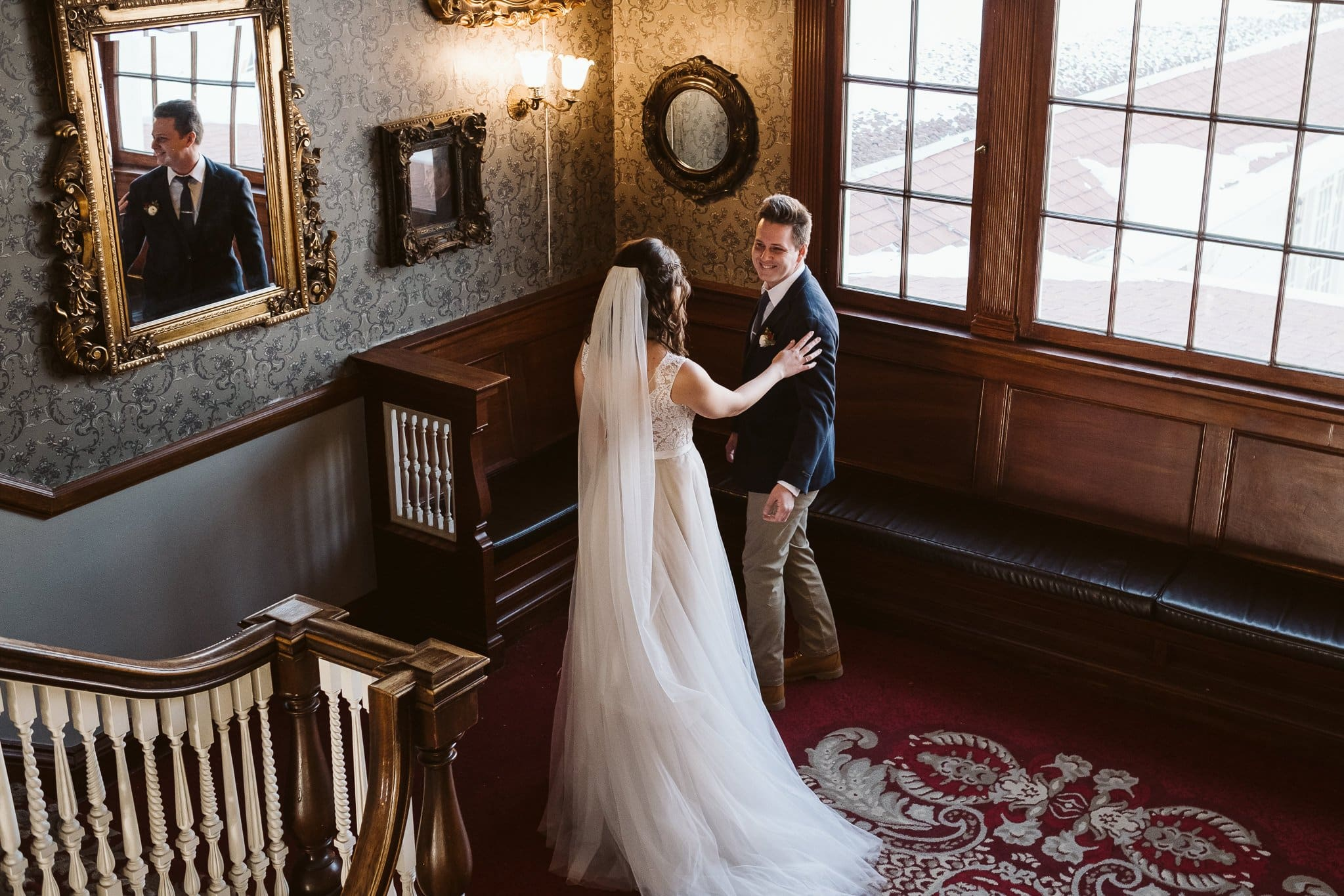 First Look at the Stanley Hotel wedding in Estes Park.