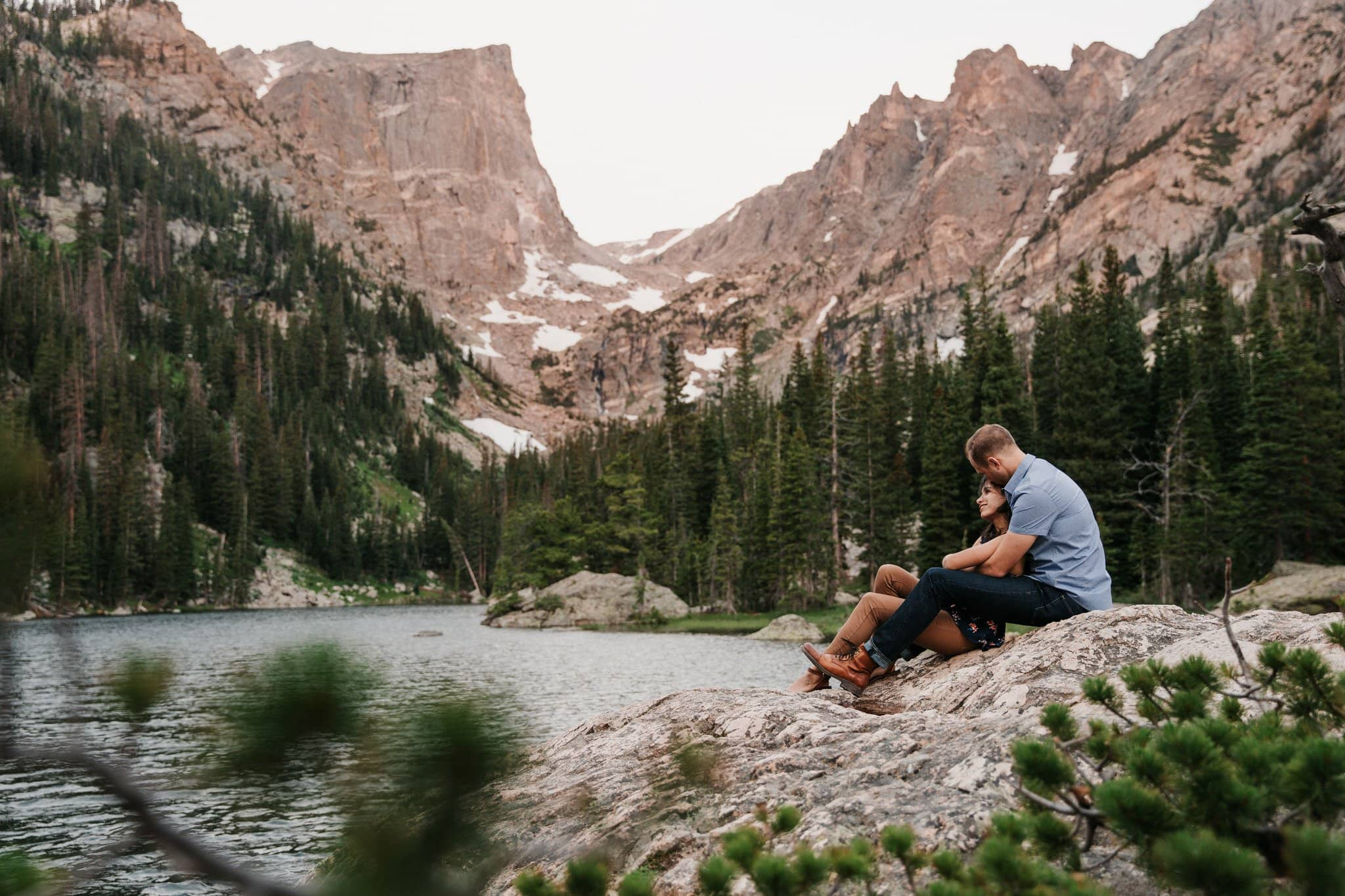 Dream Lake engagement session