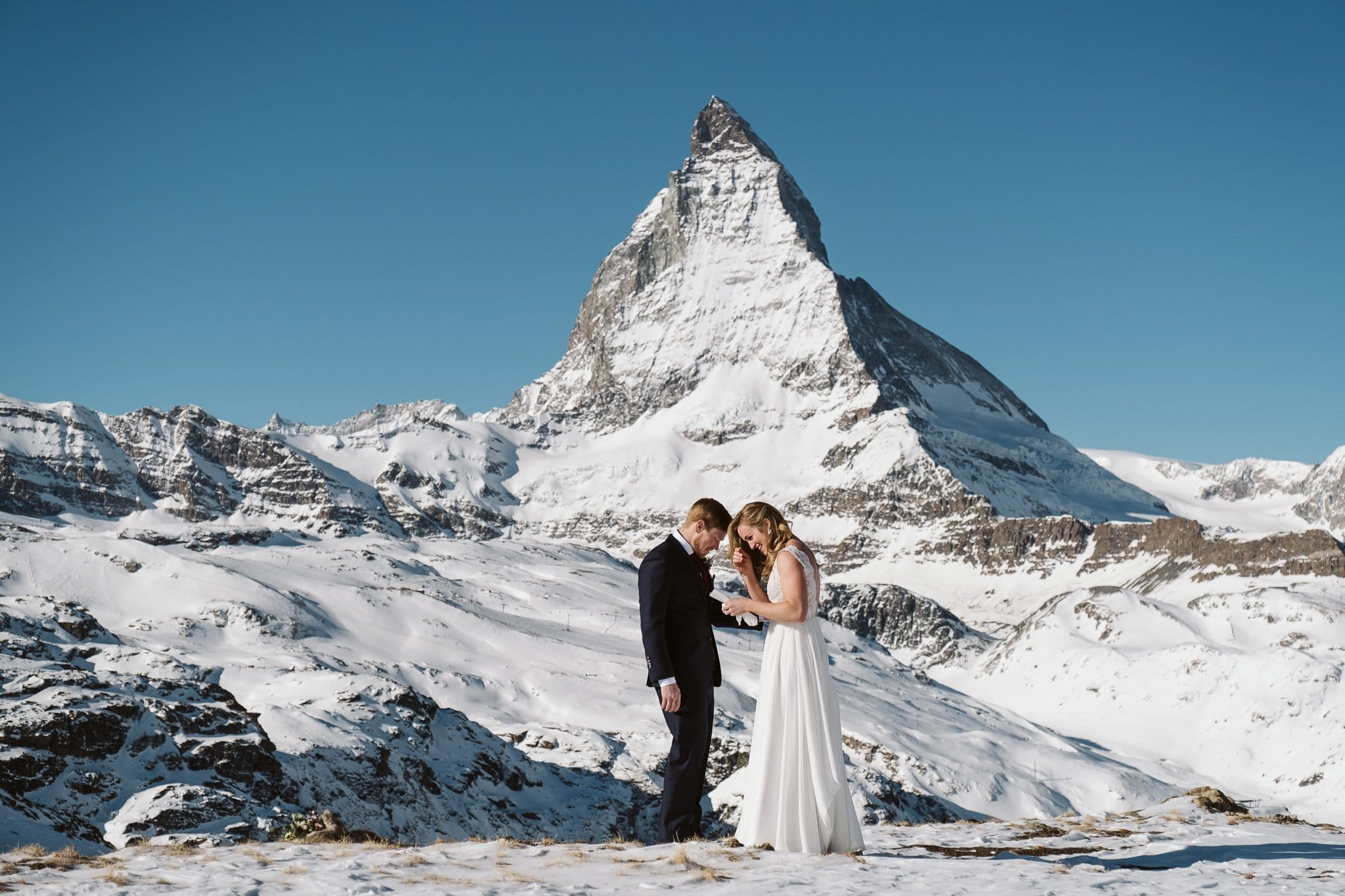 Matterhorn elopement in Zermatt, Switzerland