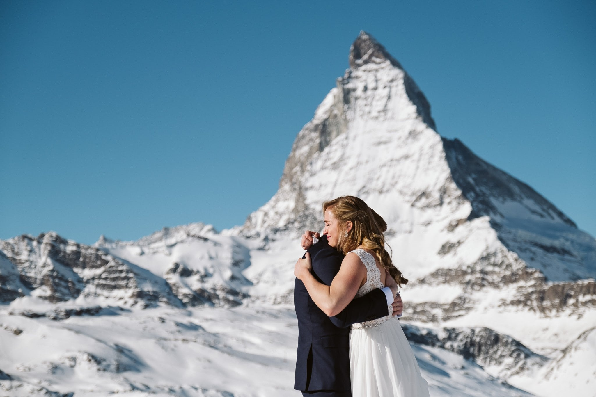 Switzerland elopement at Matterhorn.