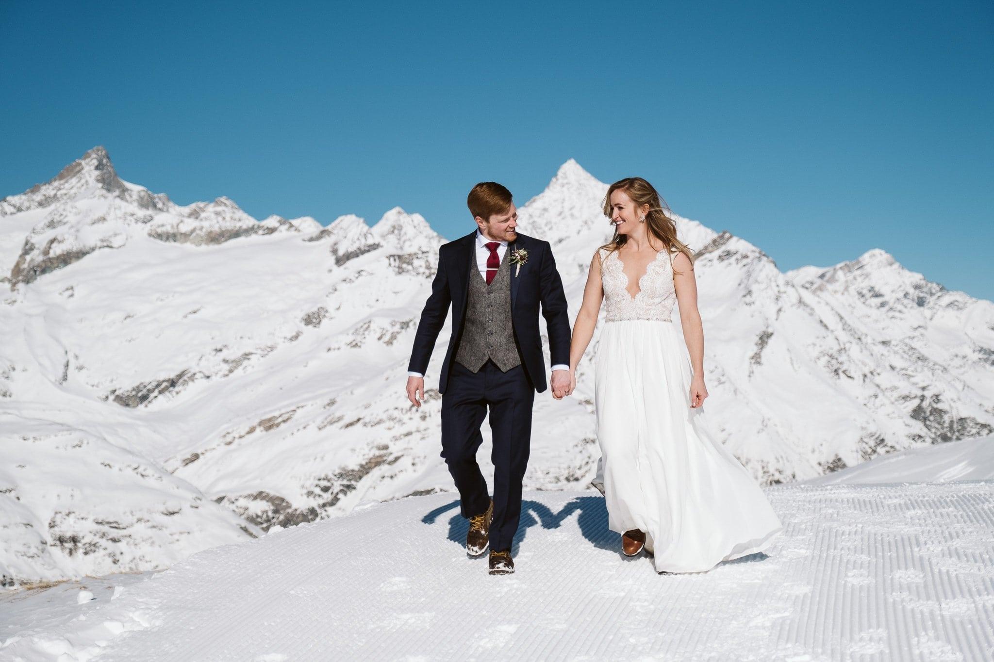 Destination elopement in Zermatt, Switzerland