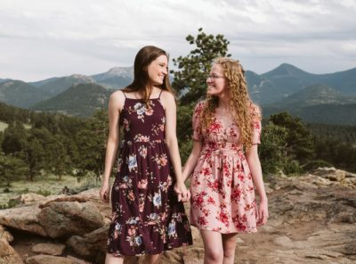 Kayla + Helen's Rocky Mountain Engagement