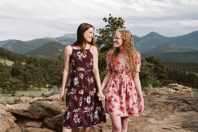 Kayla + Helen's Rocky Mountain Engagement
