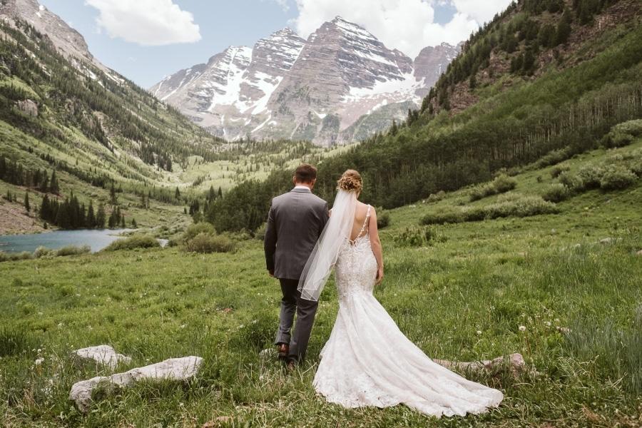 Maroon Bells elopement in Aspen, Colorado.