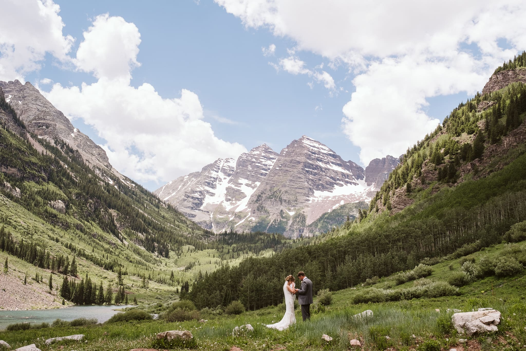 Outdoor wedding venue at Maroon Bells Amphitheater in Aspen, Colorado