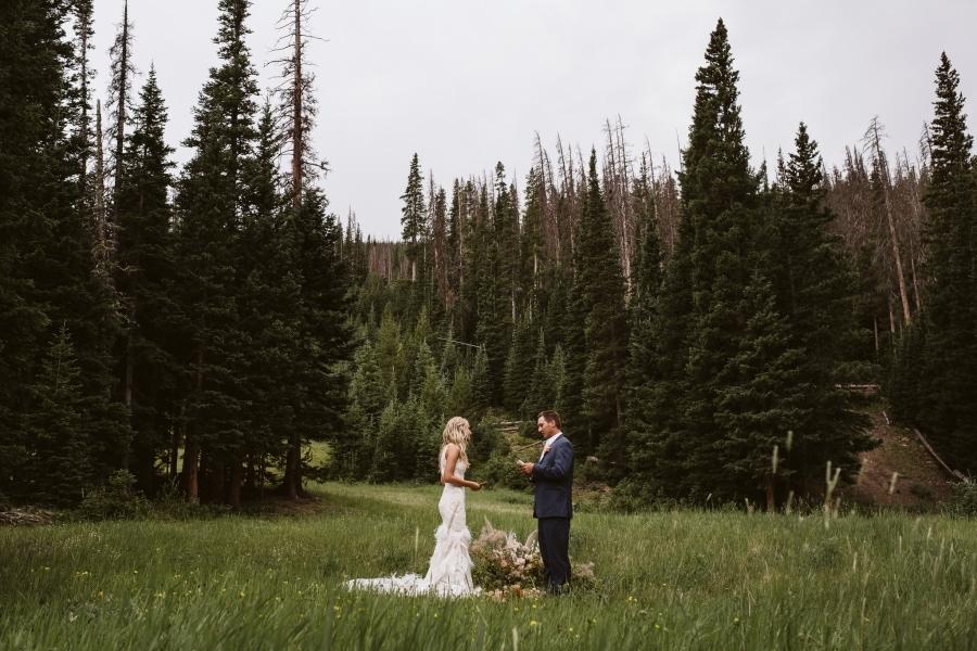 Hidden Valley elopement in Rocky Mountain National Park