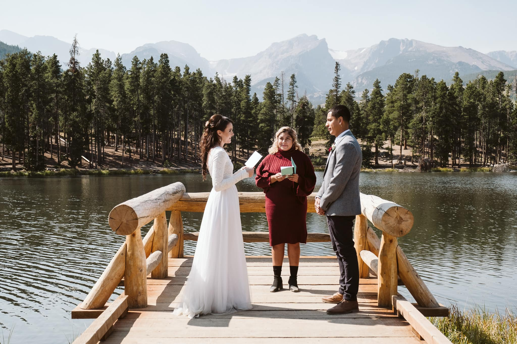 Elopement ceremony in Rocky Mountain National Park