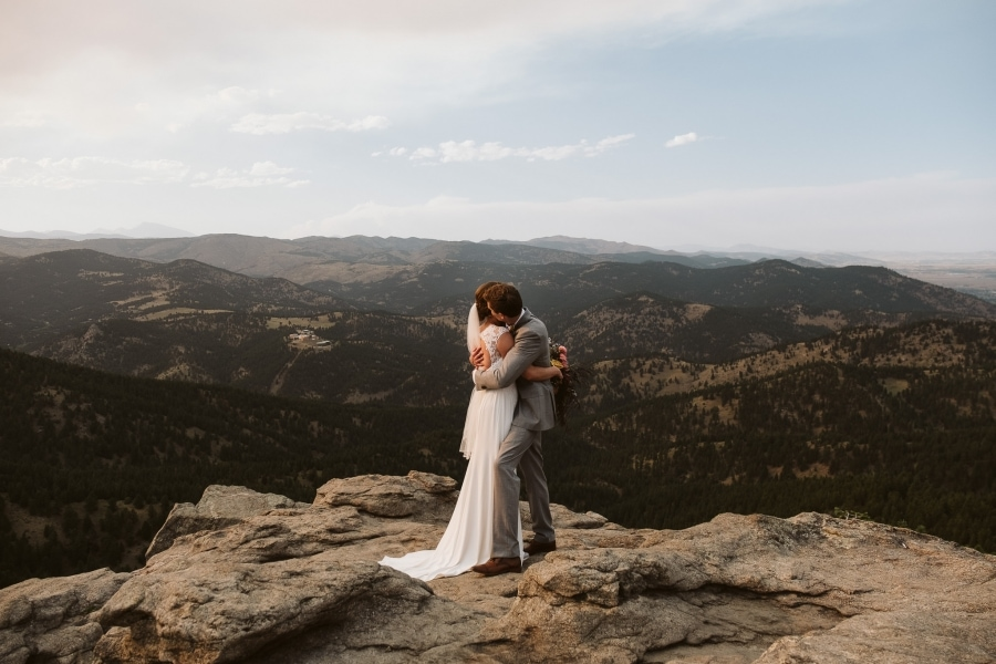 Flagstaff House elopement in Boulder, Colorado.
