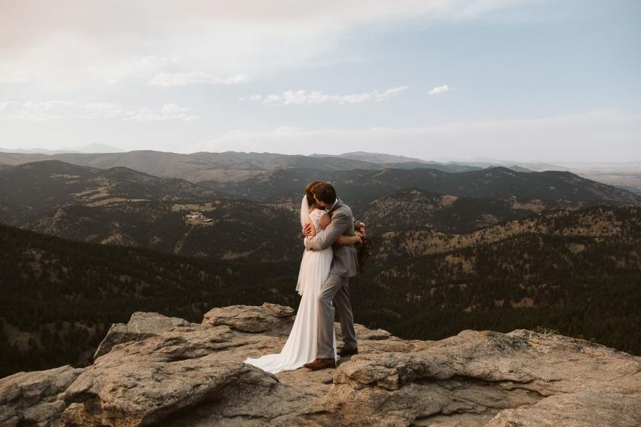 Flagstaff House elopement in Boulder, Colorado.