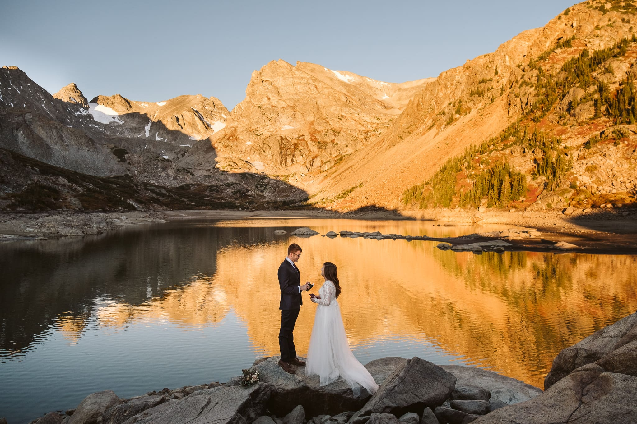 Sunrise hiking elopement in Colorado