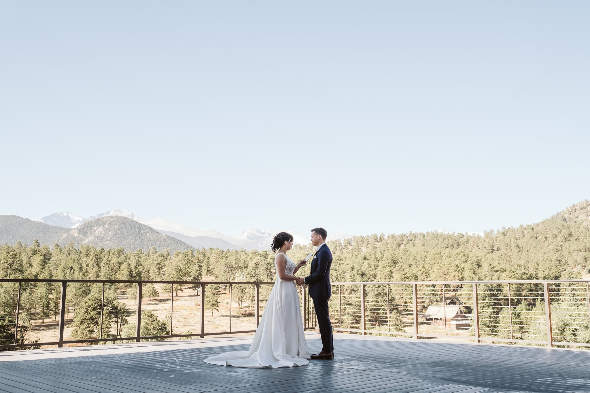 Wedding at SkyView at Fall River in Estes Park