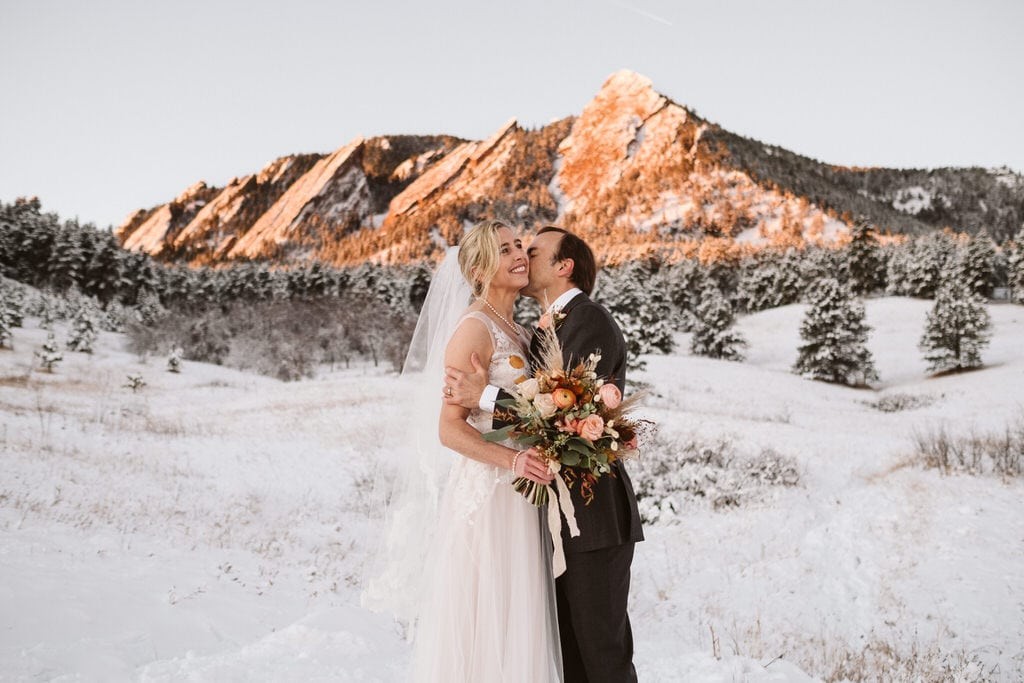 Winter elopement in Boulder