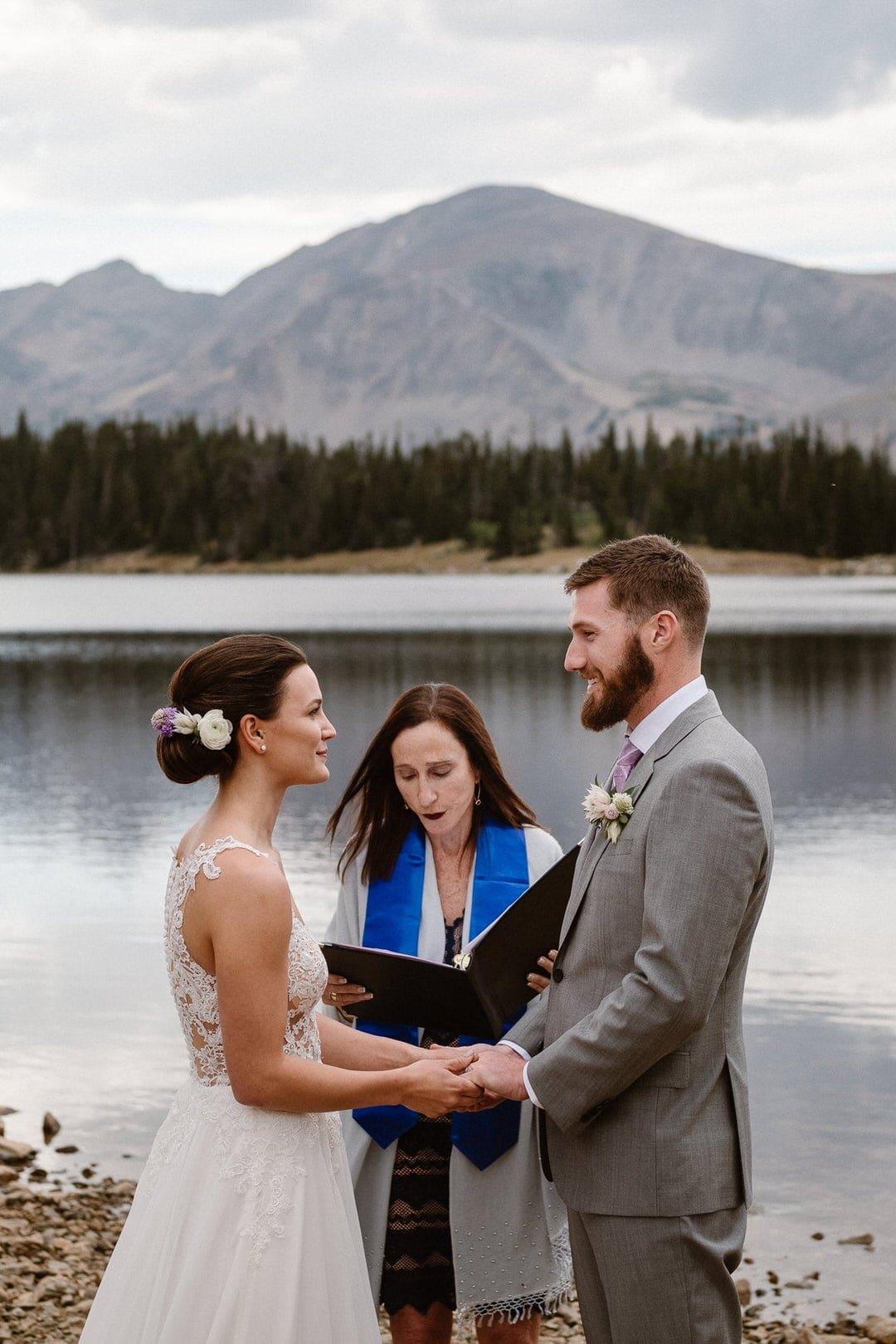 Elopement ceremony in Boulder, Colorado.