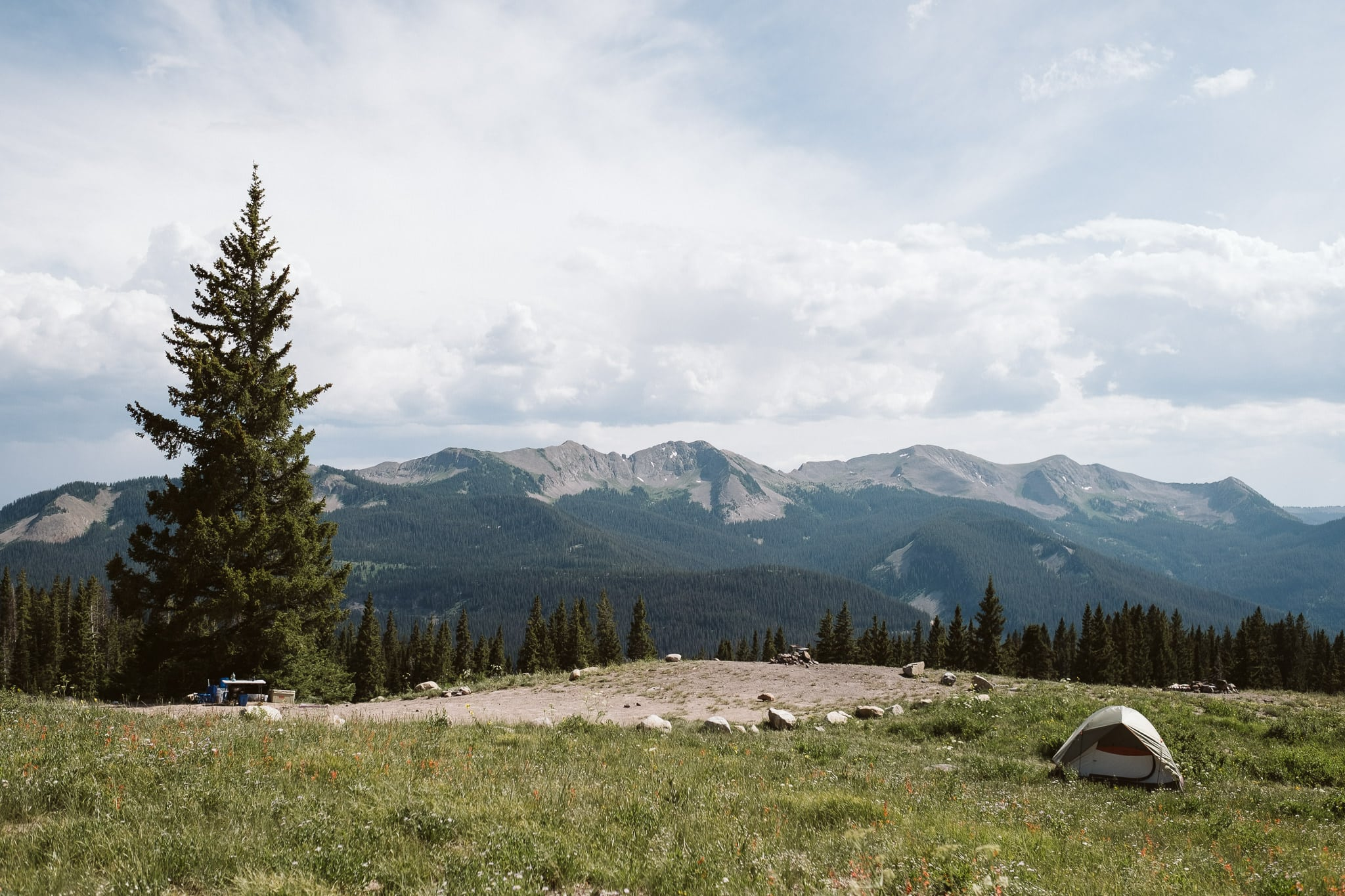 Camping elopement sites in Crested Butte