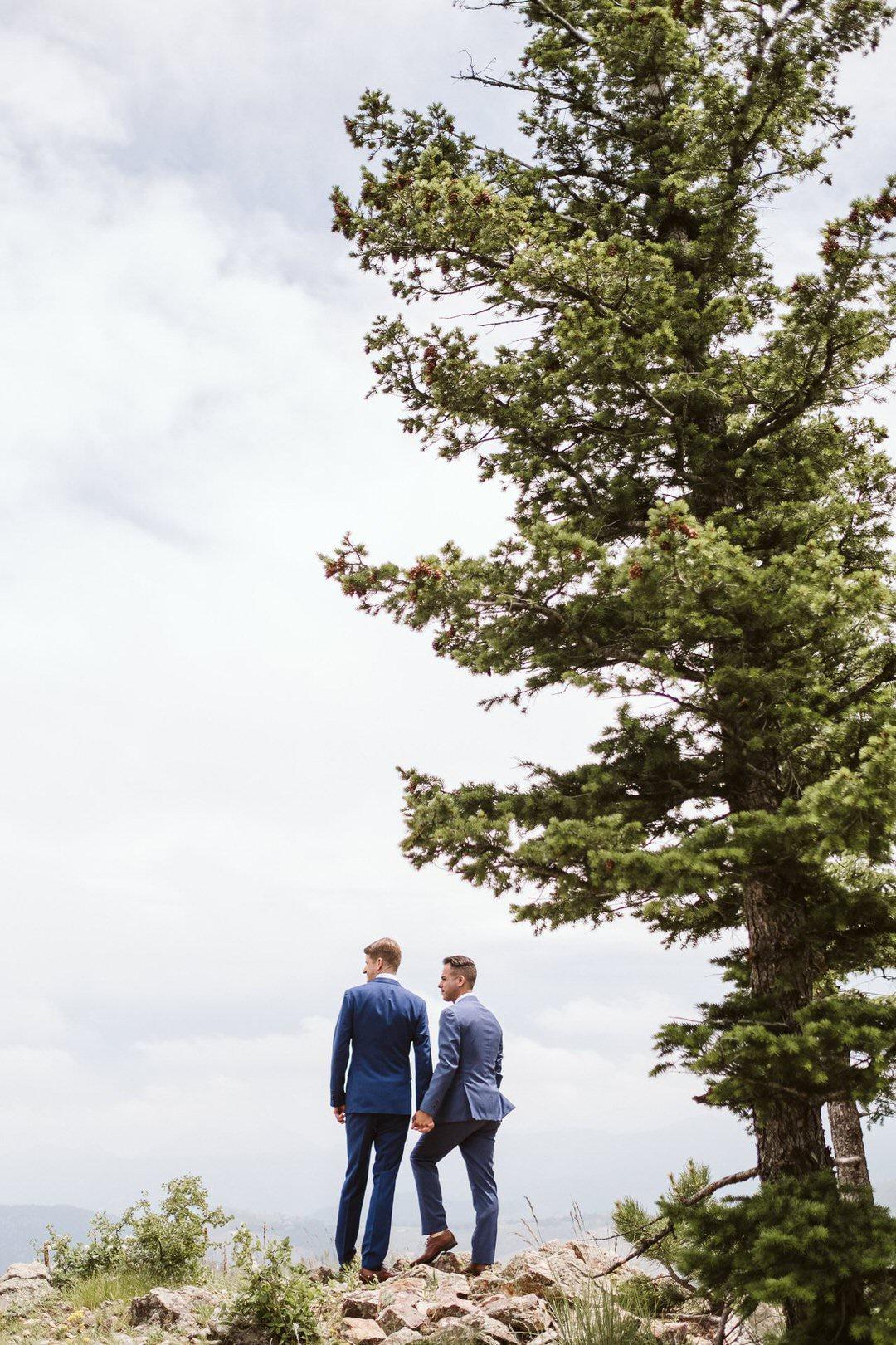 Gay wedding in Boulder, Colorado.