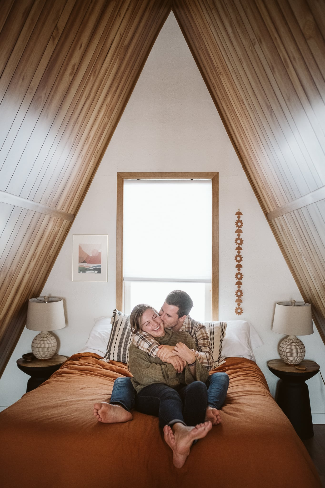 A-Frame cabin airbnb rental for elopement
