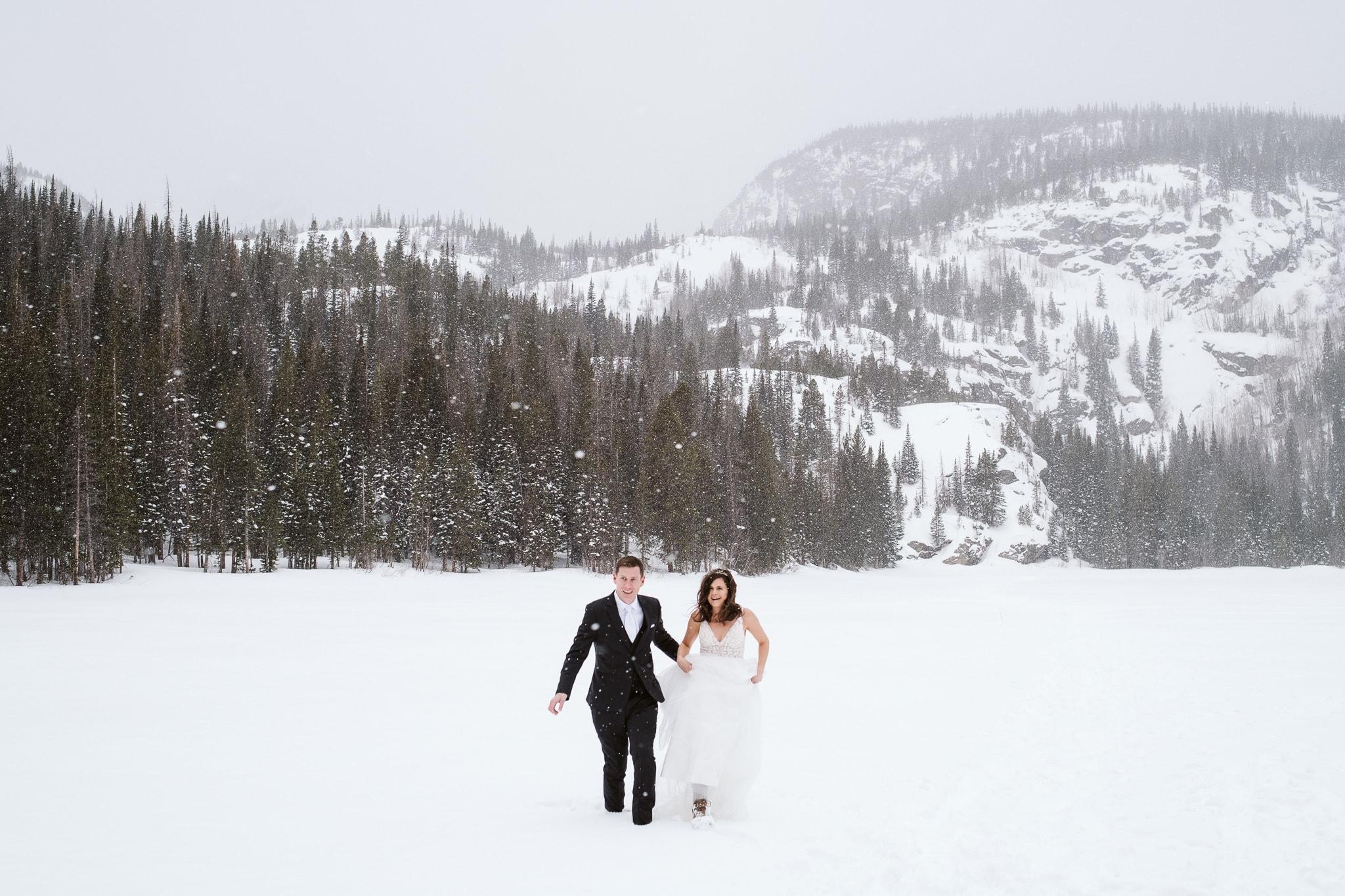 Bear Lake elopement in winter