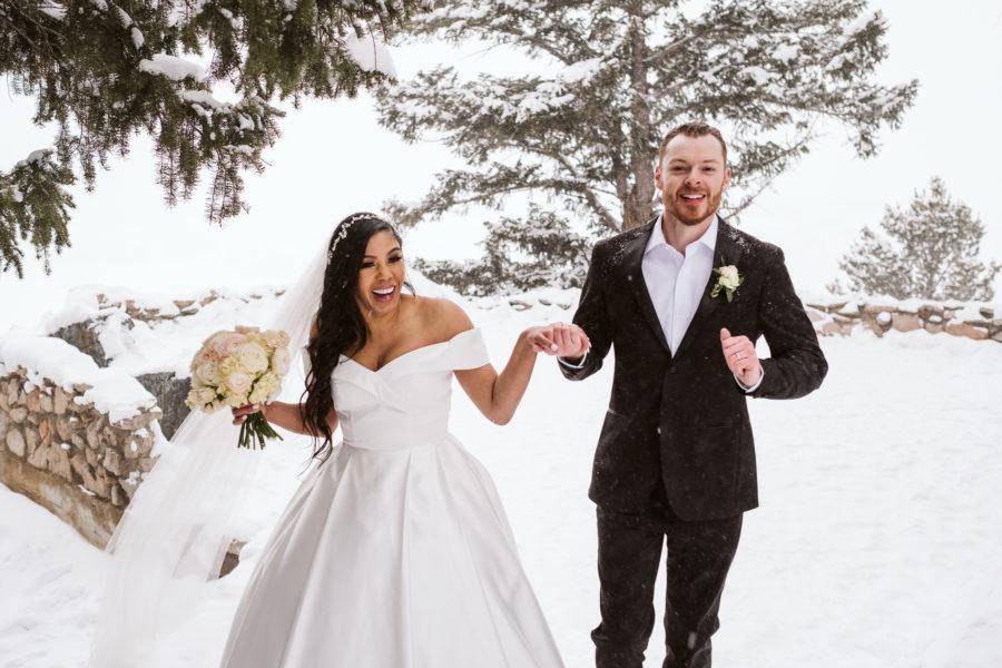 Sapphire Point Overlook winter elopement