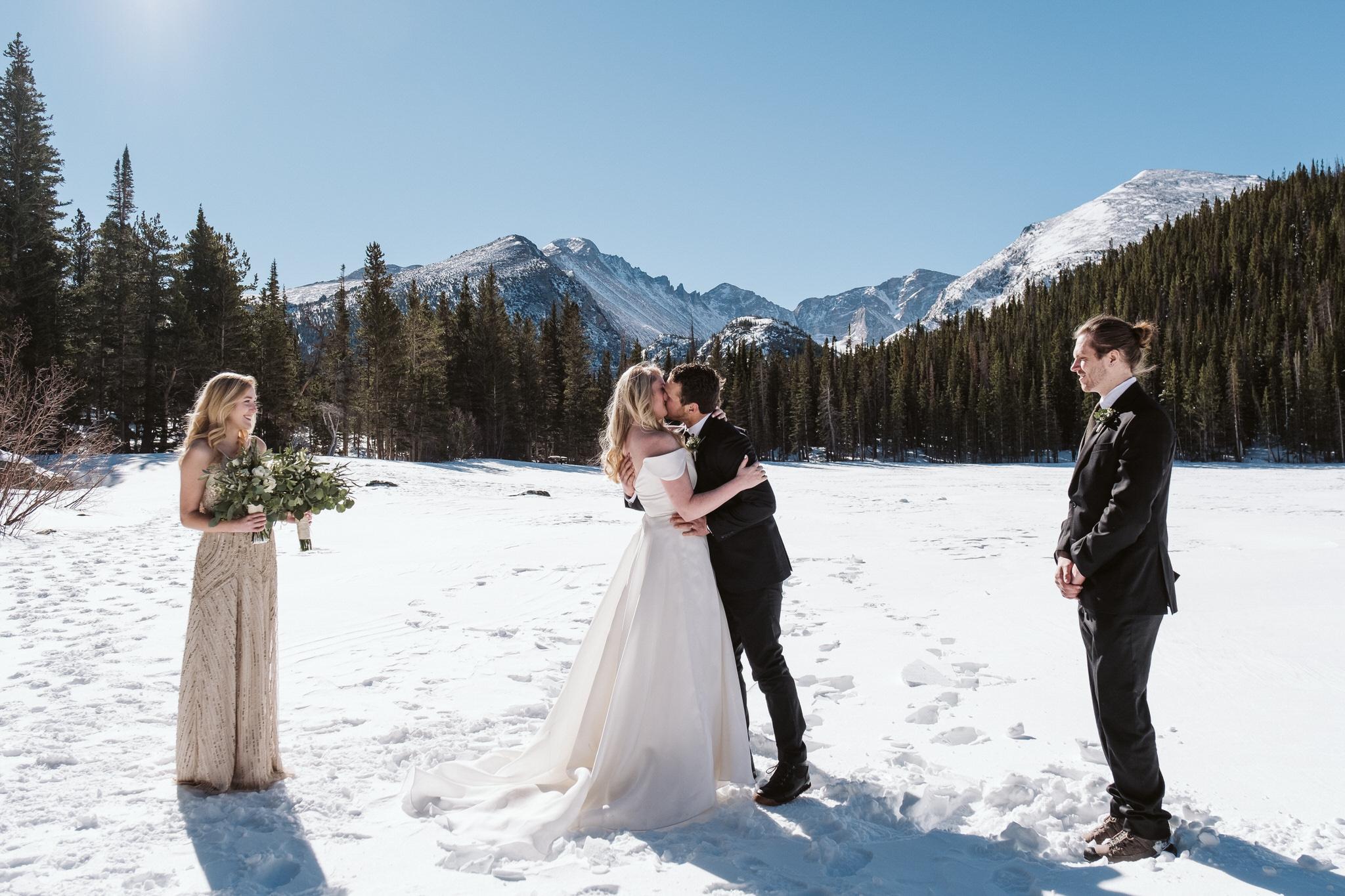 Bear Lake wedding ceremony in RMNP