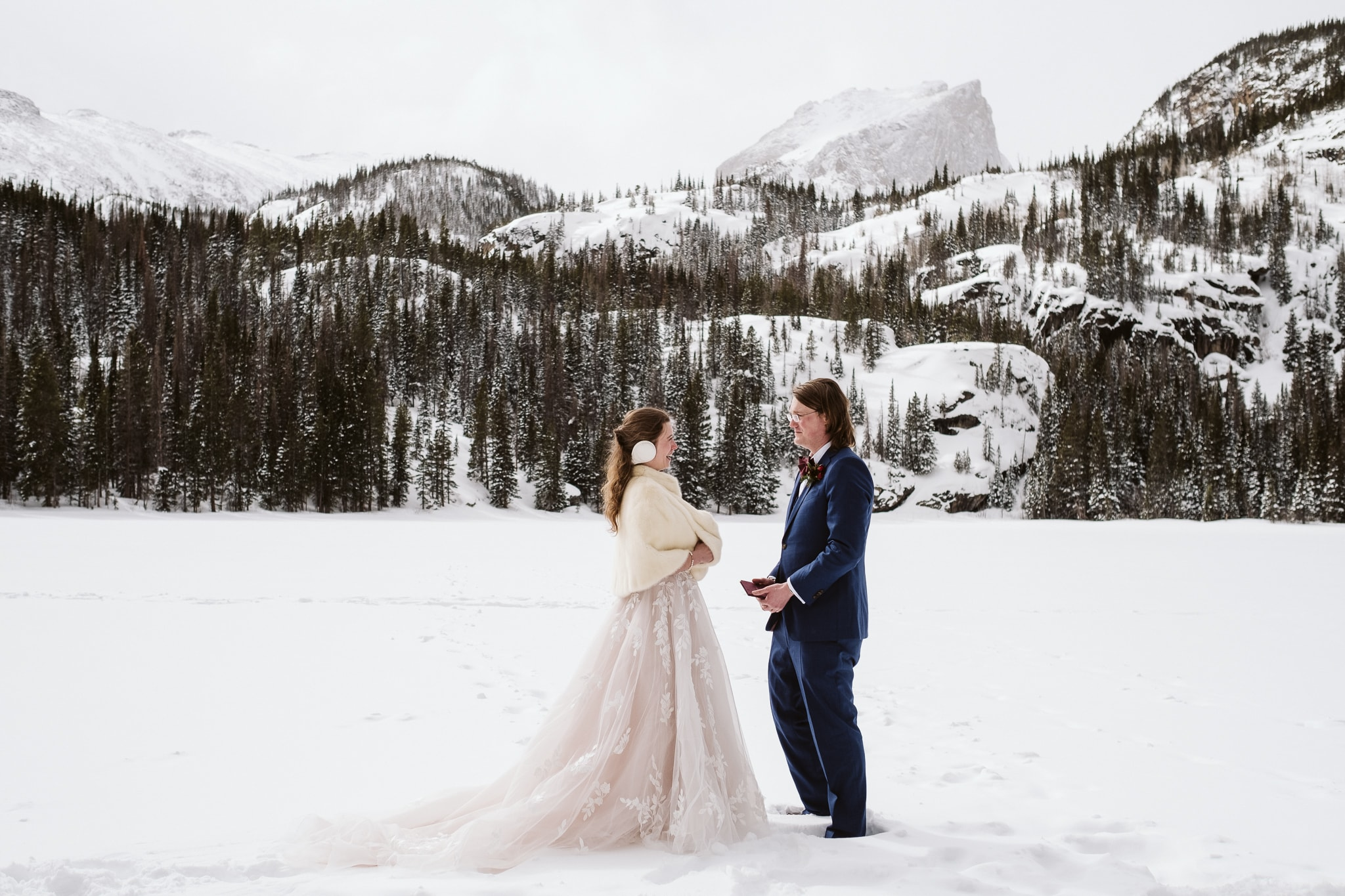 Bear Lake elopement ceremony