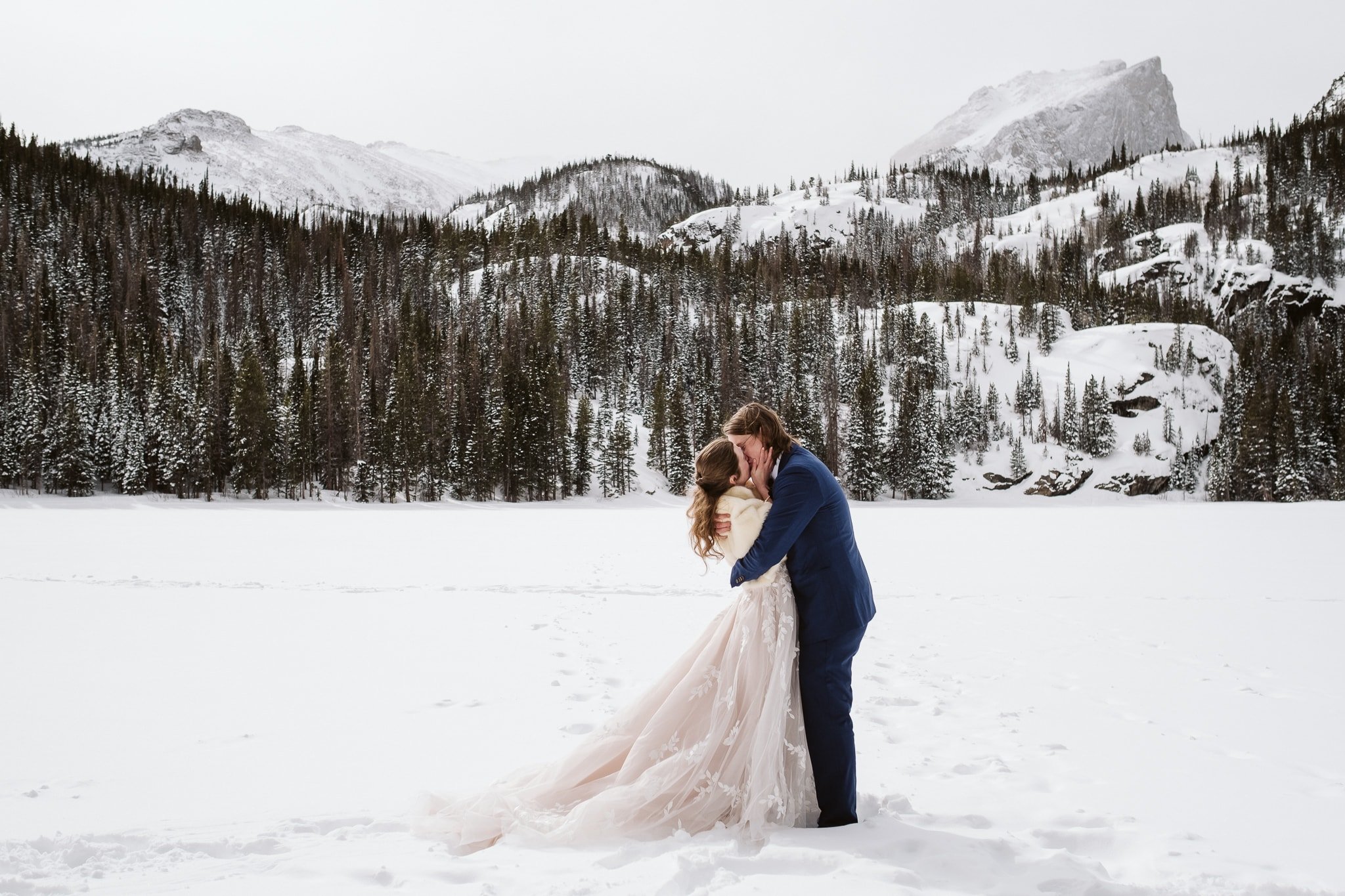 Bear Lake winter elopement