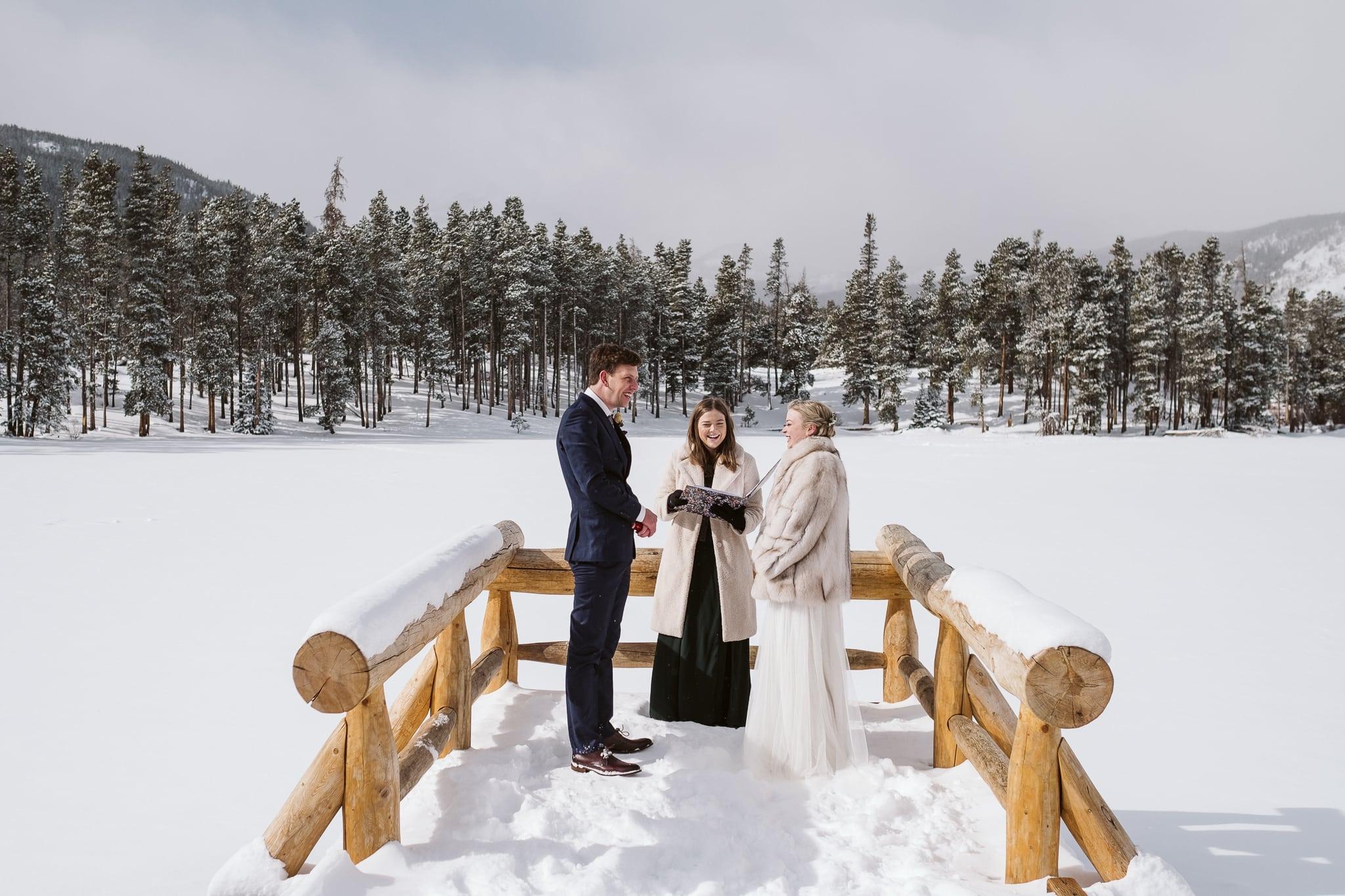 Sprague Lake winter elopement