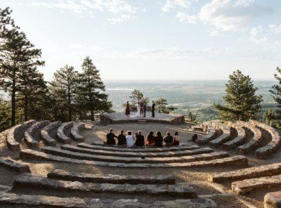 Caroline + Jim's Sunrise Amphitheater Elopement