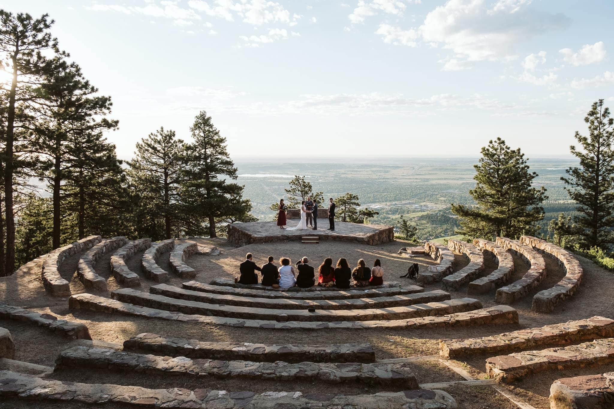 Sunrise Amphitheater wedding venue in Boulder, Colorado