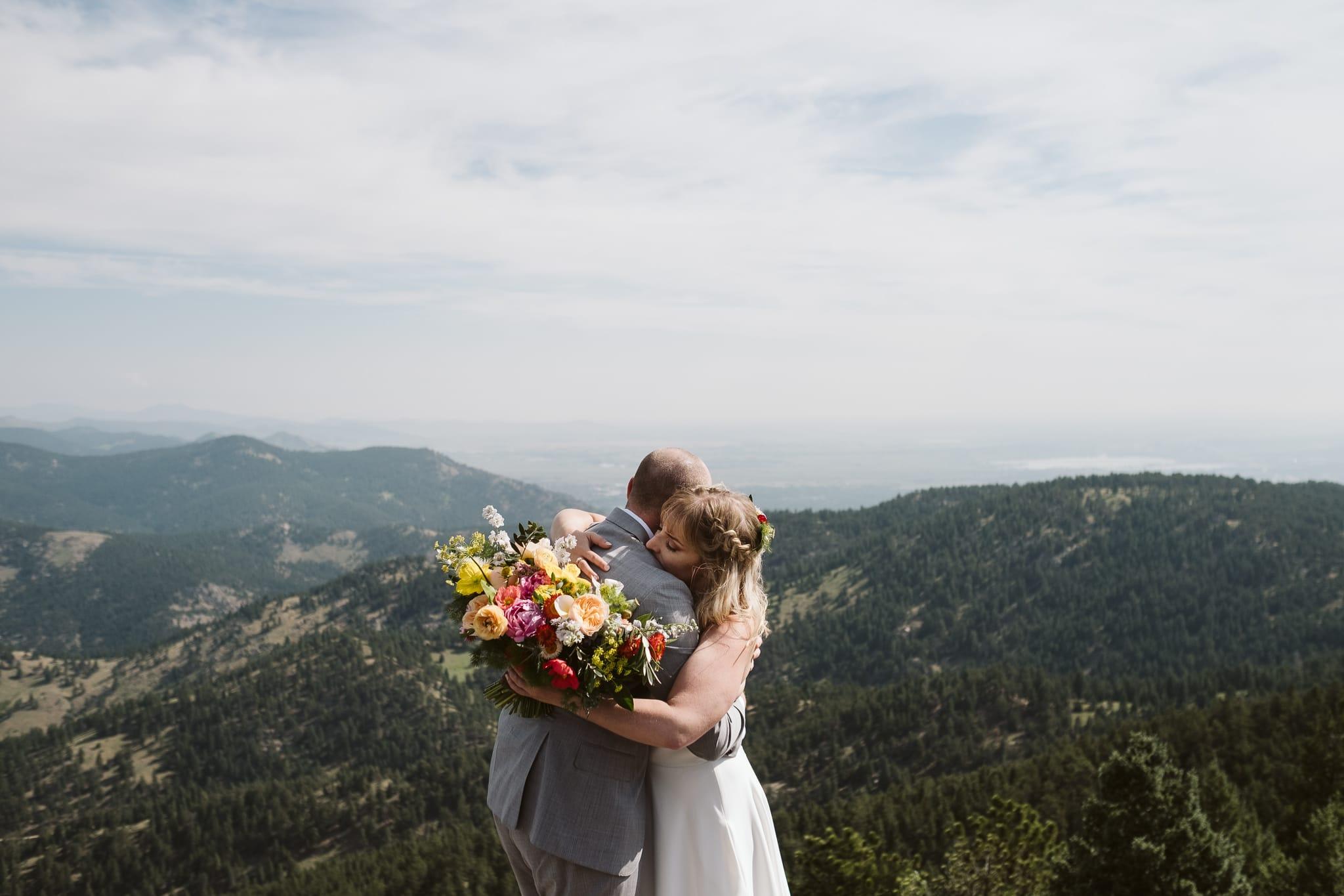 Lost Gulch Overlook wedding photos in Boulder
