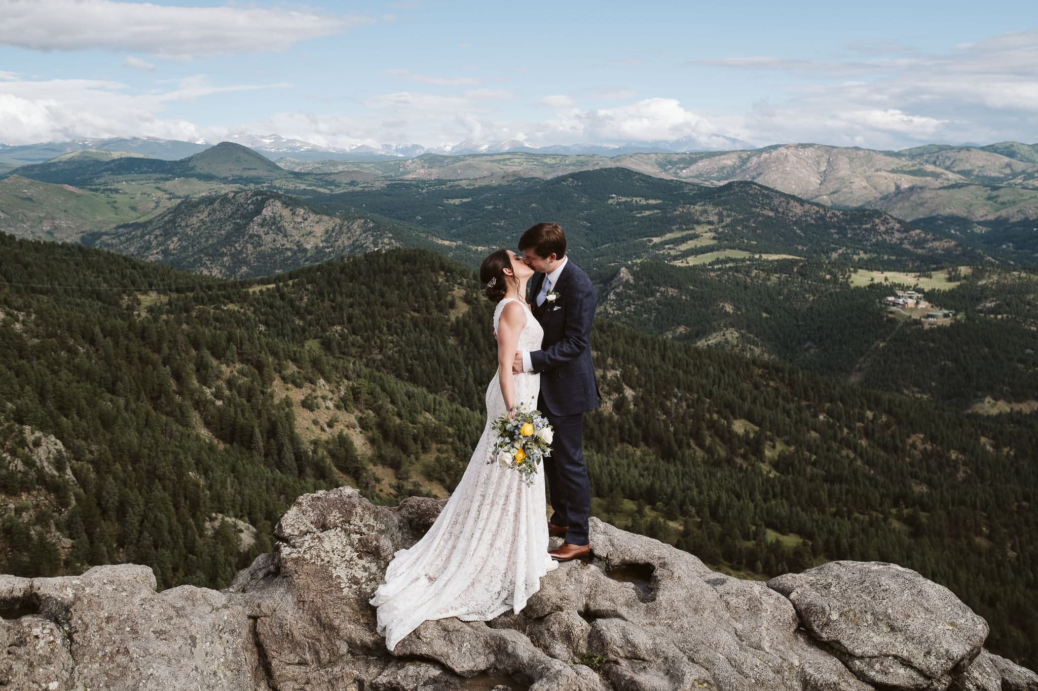Lost Gulch Overlook elopement in Boulder, Colorado