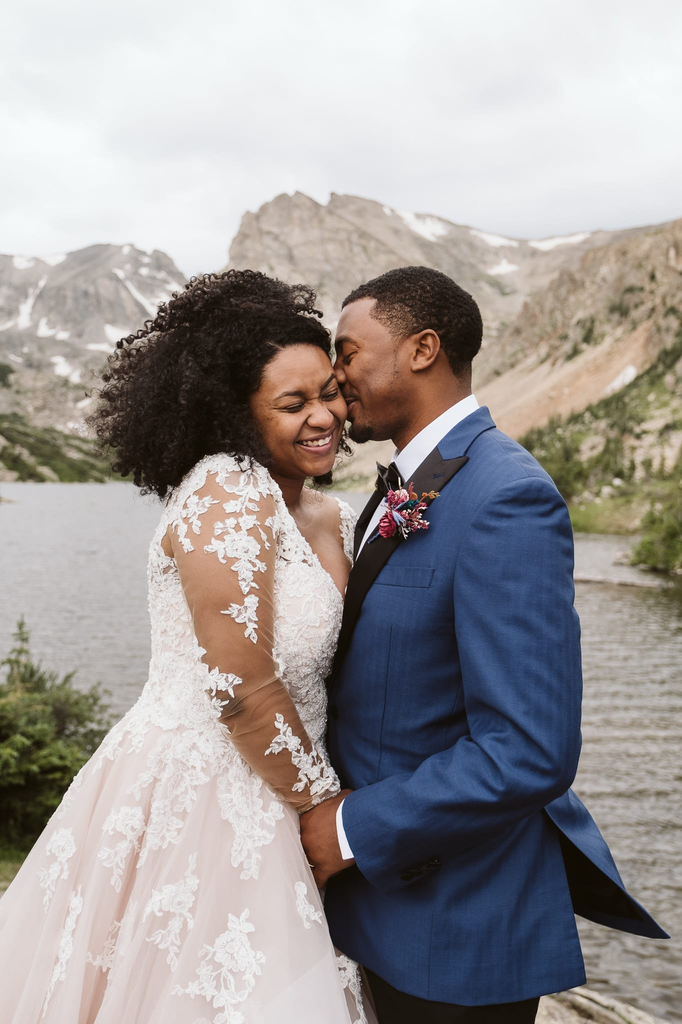Hiking elopement in the Colorado mountains