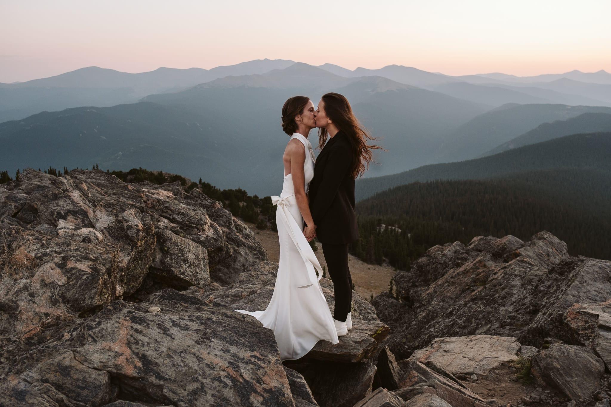LGBTQ+ adventure elopement in Colorado