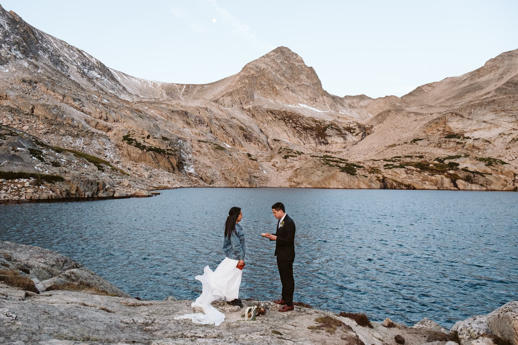 Self-solemnizing elopement in the Colorado mountains